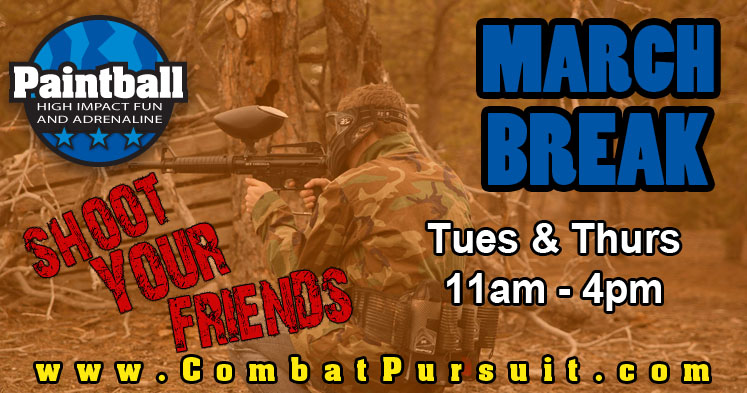March Break Paintball